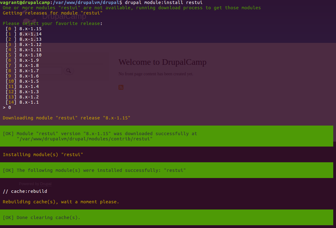 drupalconsole-install-restui